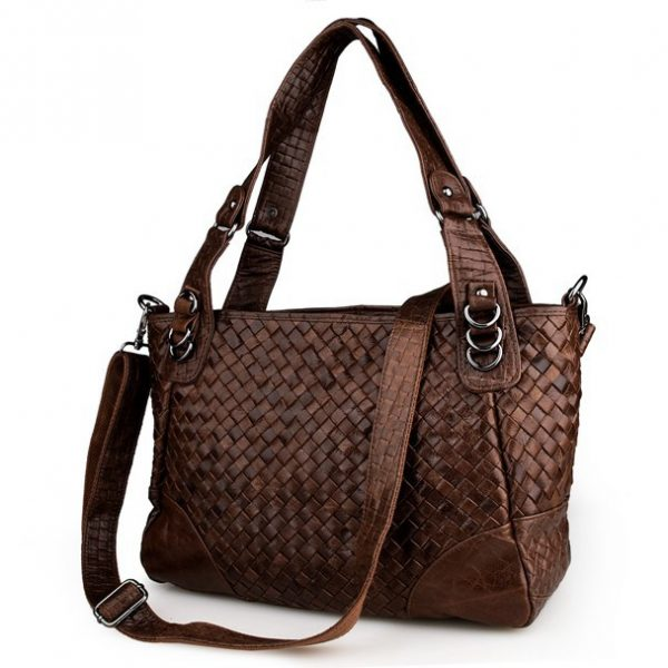 JMD Vintage Woven Women Leather Handbag