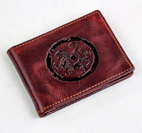 Wine Red Purse Card Holder