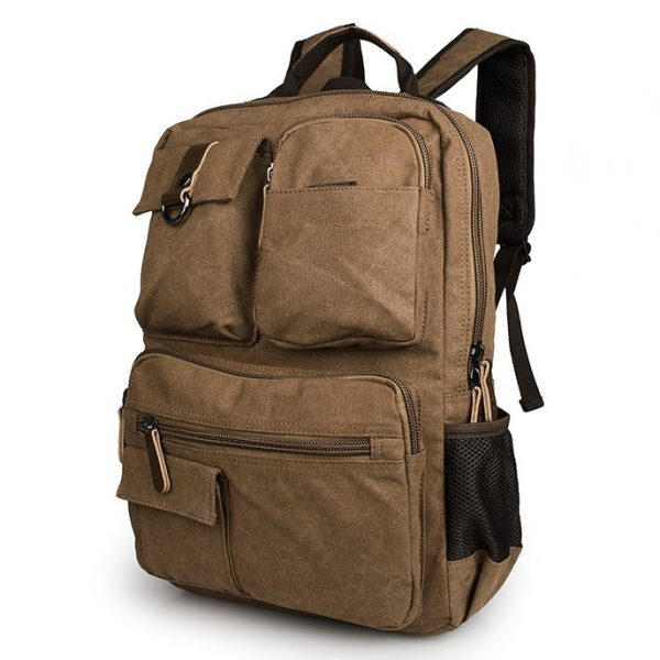 canvas knapsack backpack