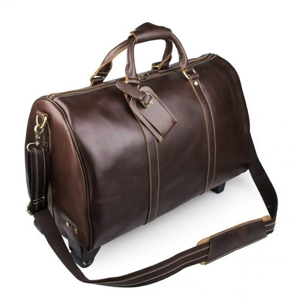 Unisex Leather Travel Dispatch Bag