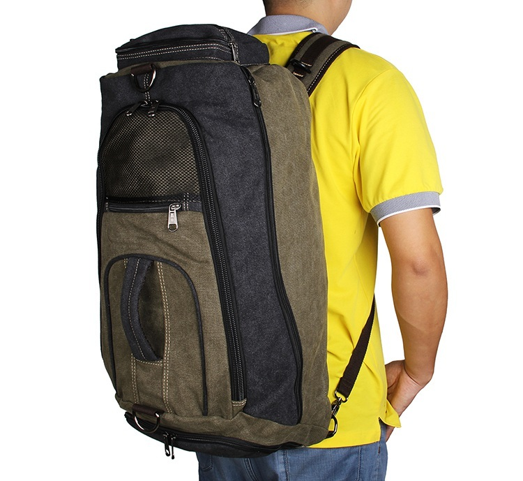 multifunction canvas sport backpack