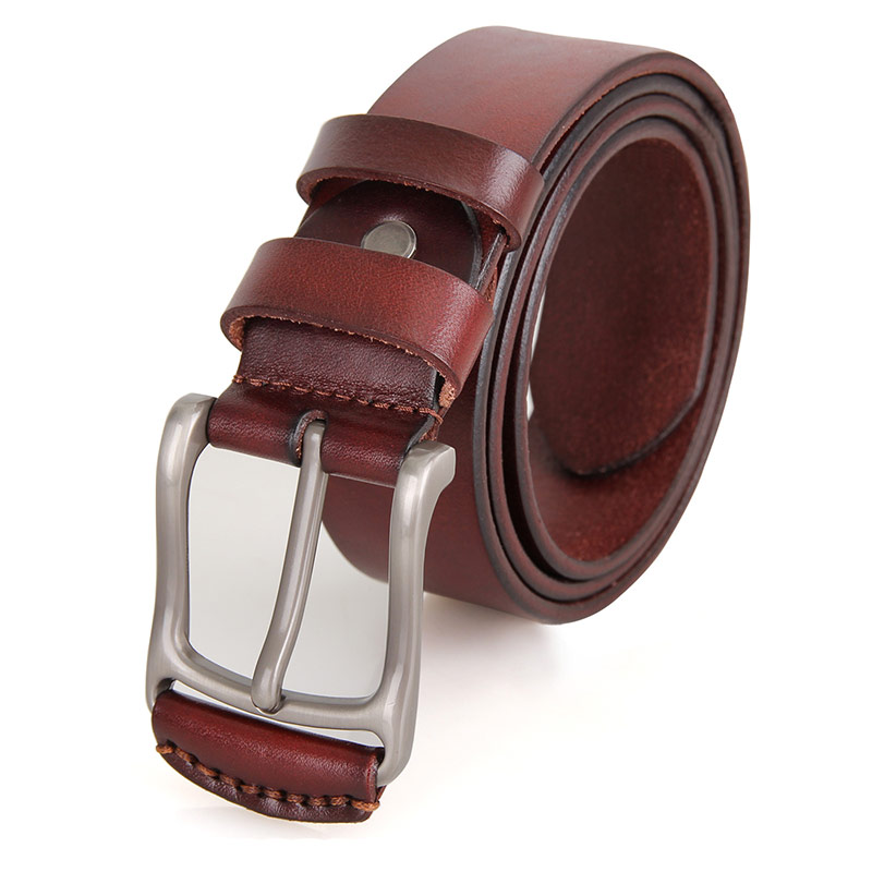 Durable Vegetable Leather Handmade Belt for Men