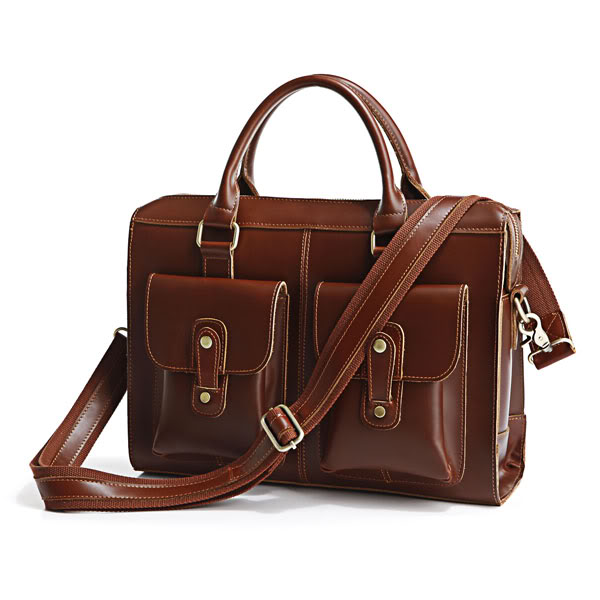 Cow Leather Men's Briefcase