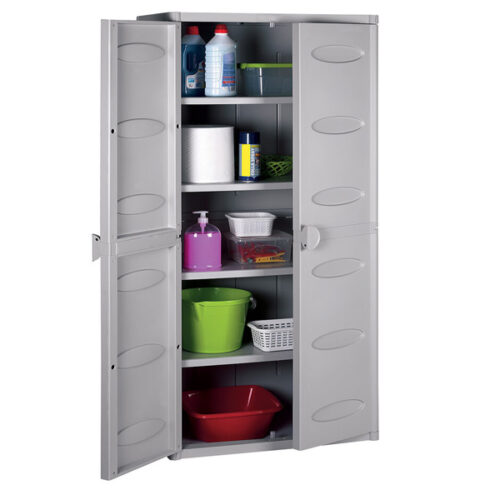 Шкафче за складирање ПВЦ бело 65Х45Х172H