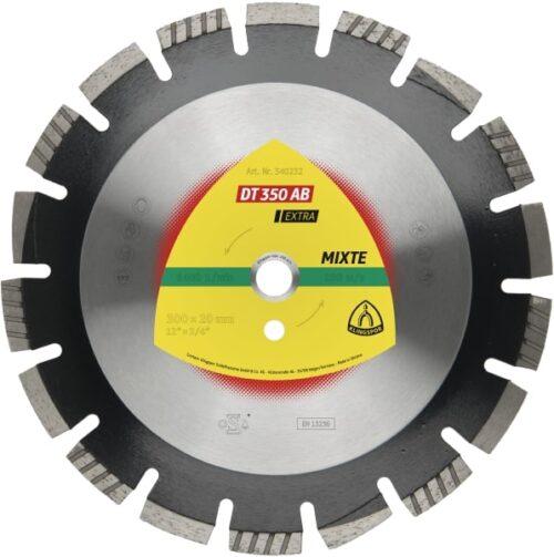 Дијамантски диск за сечење Асфалт Klingspor DT 350 AB Extra