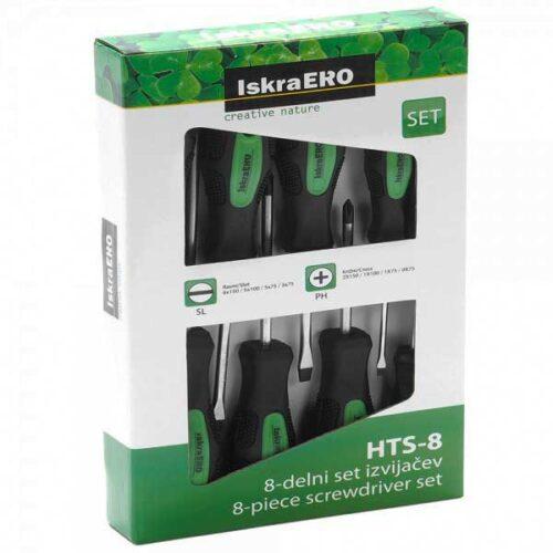 Сет од 8 шрафцигери ERO HTS - 8
