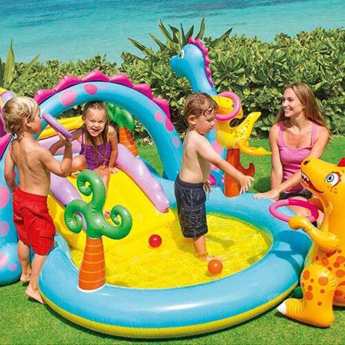 INTEX детски базен Dinoland 333x229x112 cm