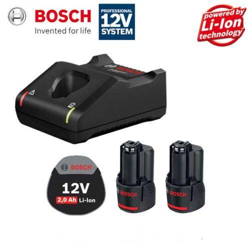 Батерии и полнач сет BOSCH 2 x GBA 12V 2.0Ah + GAL 12V-40