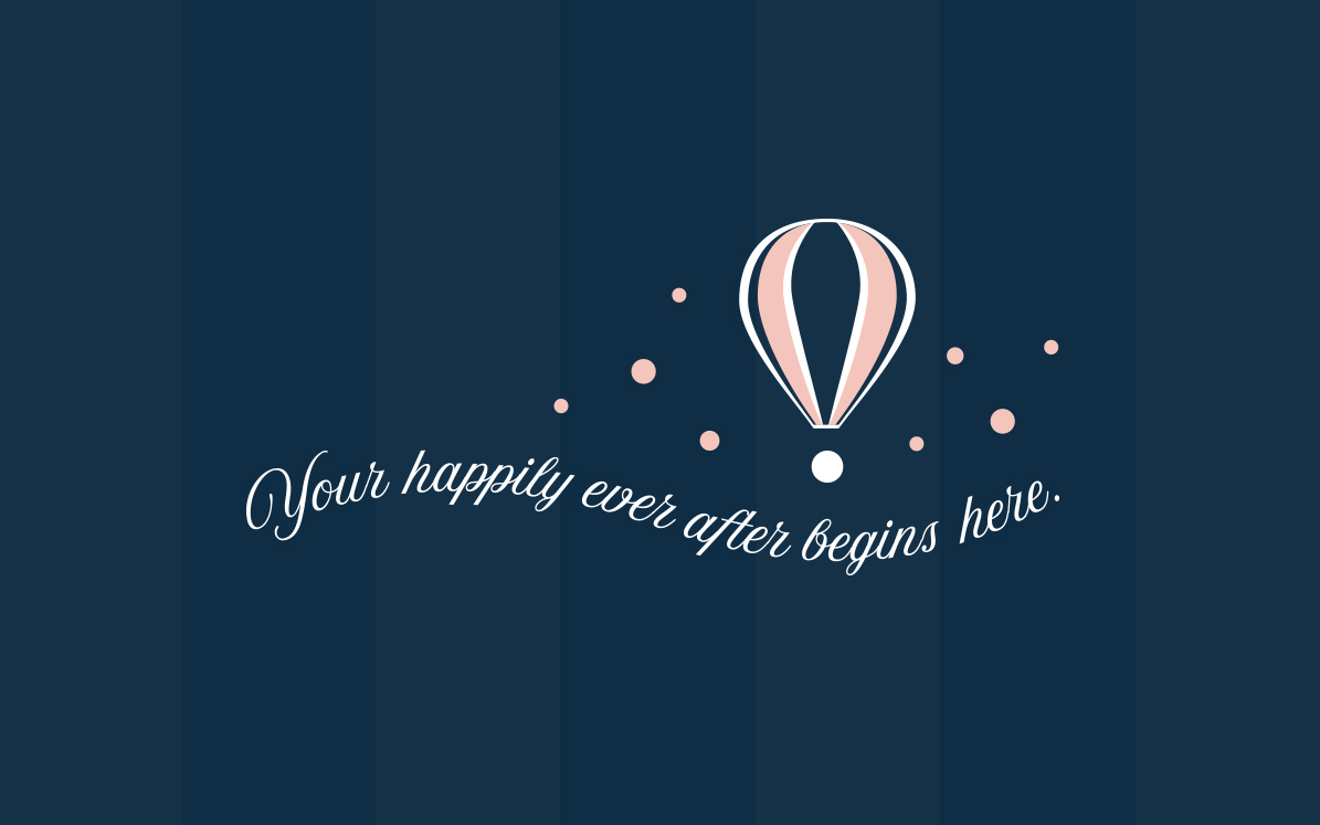 Timeless Events & Planning - hot air balloon brand graphic
