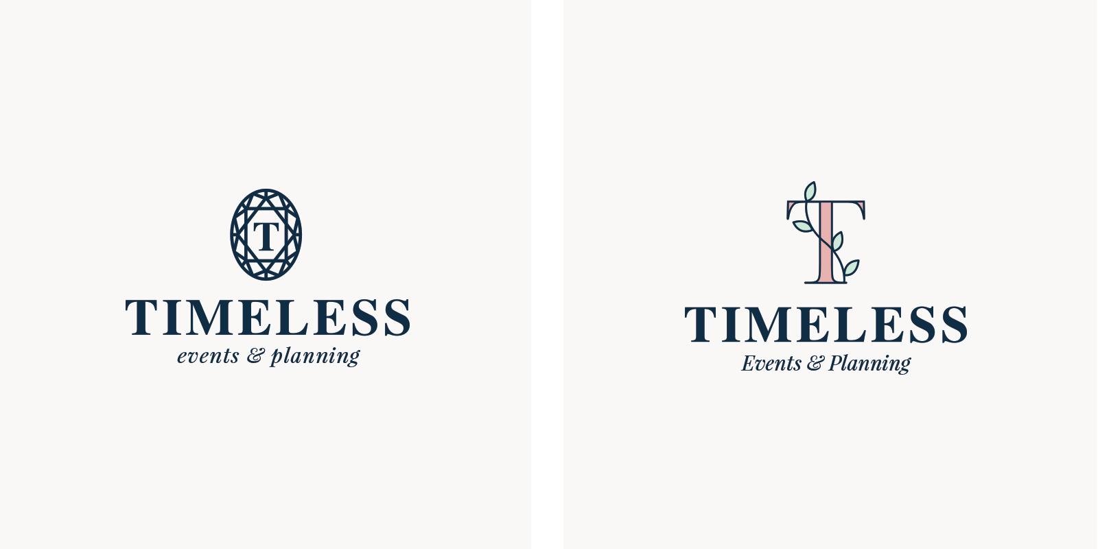 Timeless Events & Planning - alternate logo designs