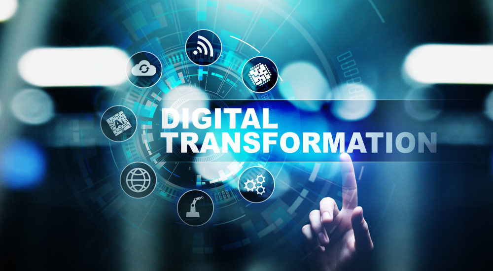 stylized image of digital transformation