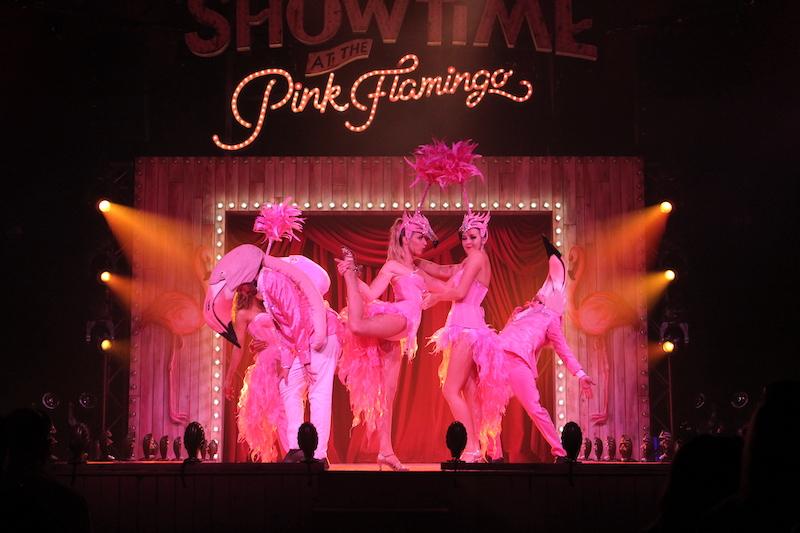 The pink flamingos at Showtime at the Pink Flamingo (Photo/Rogan Smith)