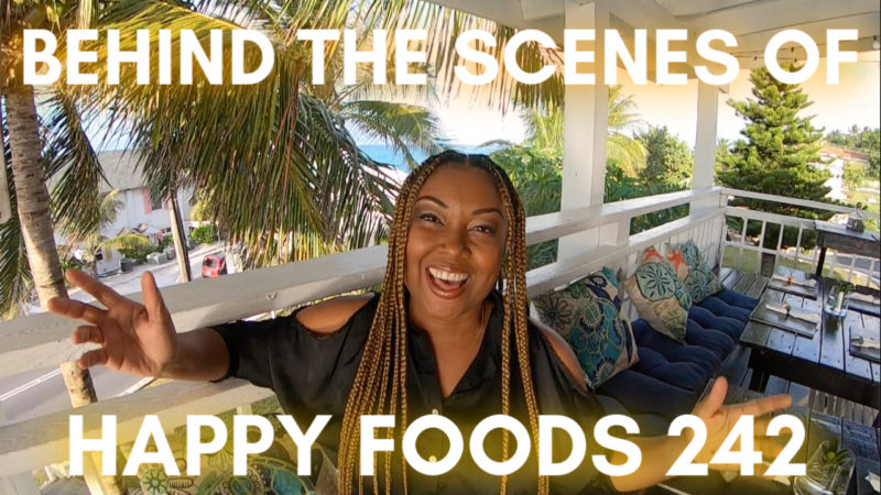 A thumbnail I used when I went behind the scenes of a popular Bahamian food show, Happy Foods 242 .