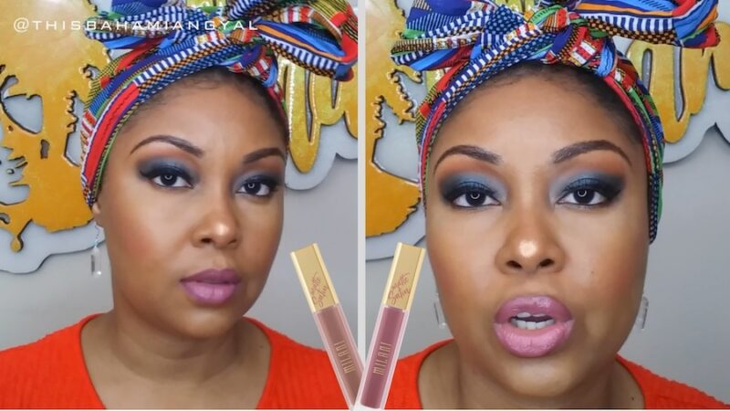 This Bahamian Gyal Blogger, Rogan Smith wears two lipsticks by drug store brand, Milani.