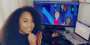 Bahamian animator, Chernecia Campbell Behind The Scenes