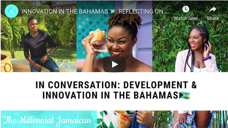 Cover shot Innovation in The Bahamas, Rogan Smith This Bahamian Gyal blogger