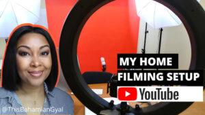 Rogan Smith, This Bahamian Gyal YouTuber, YouTube studio setup