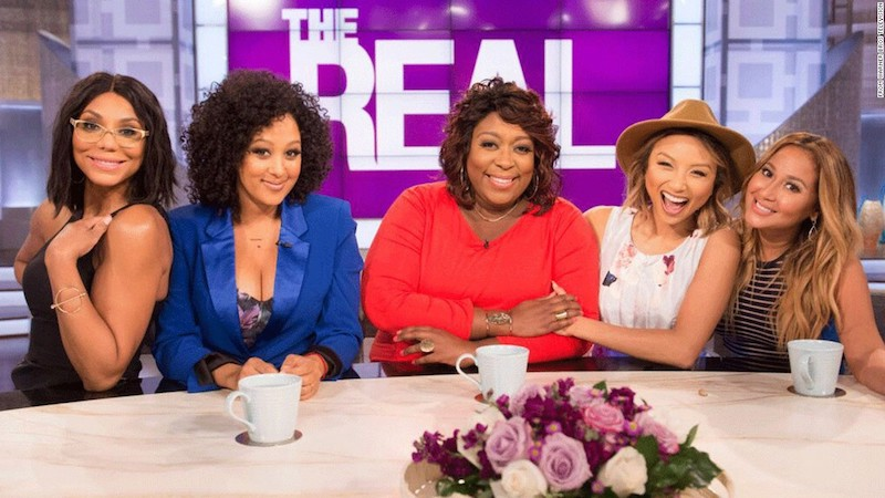 Singer Tamar Braxton is shown on the far left with her former The Real costars.
