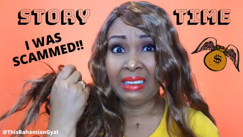 This Bahamian Gyal blogger, Rogan Smith shows wears ugly wig from online company that scammed her.