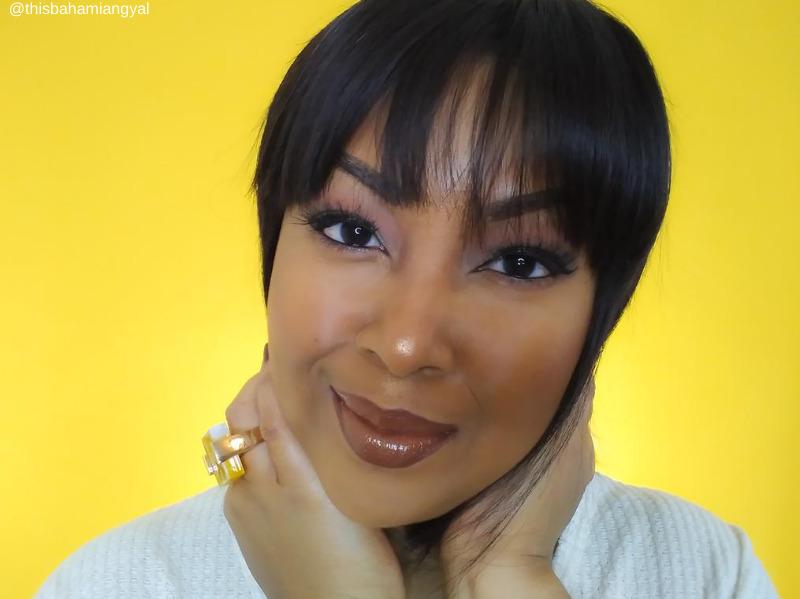 This Bahamian Gyal blogger and YouTuber Rogan Smith wears a beautiful chocolate eyeshadow look.