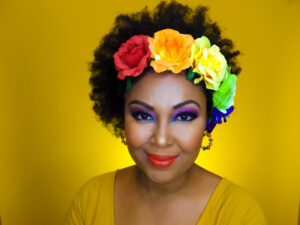 DC-based blogger, Rogan Smith, who is the Creative Director of the This Bahamian Gyal blog wears bold, bright eyeshadow colours.