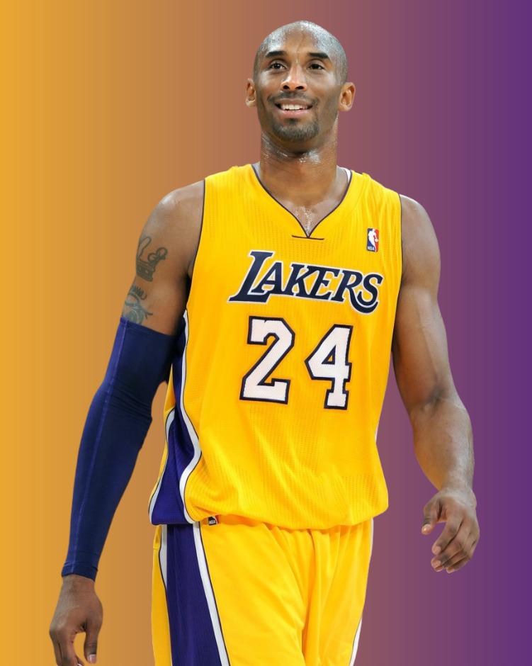 A photo of Kobe Bryant wearing his LA Lakers 24 Jersey