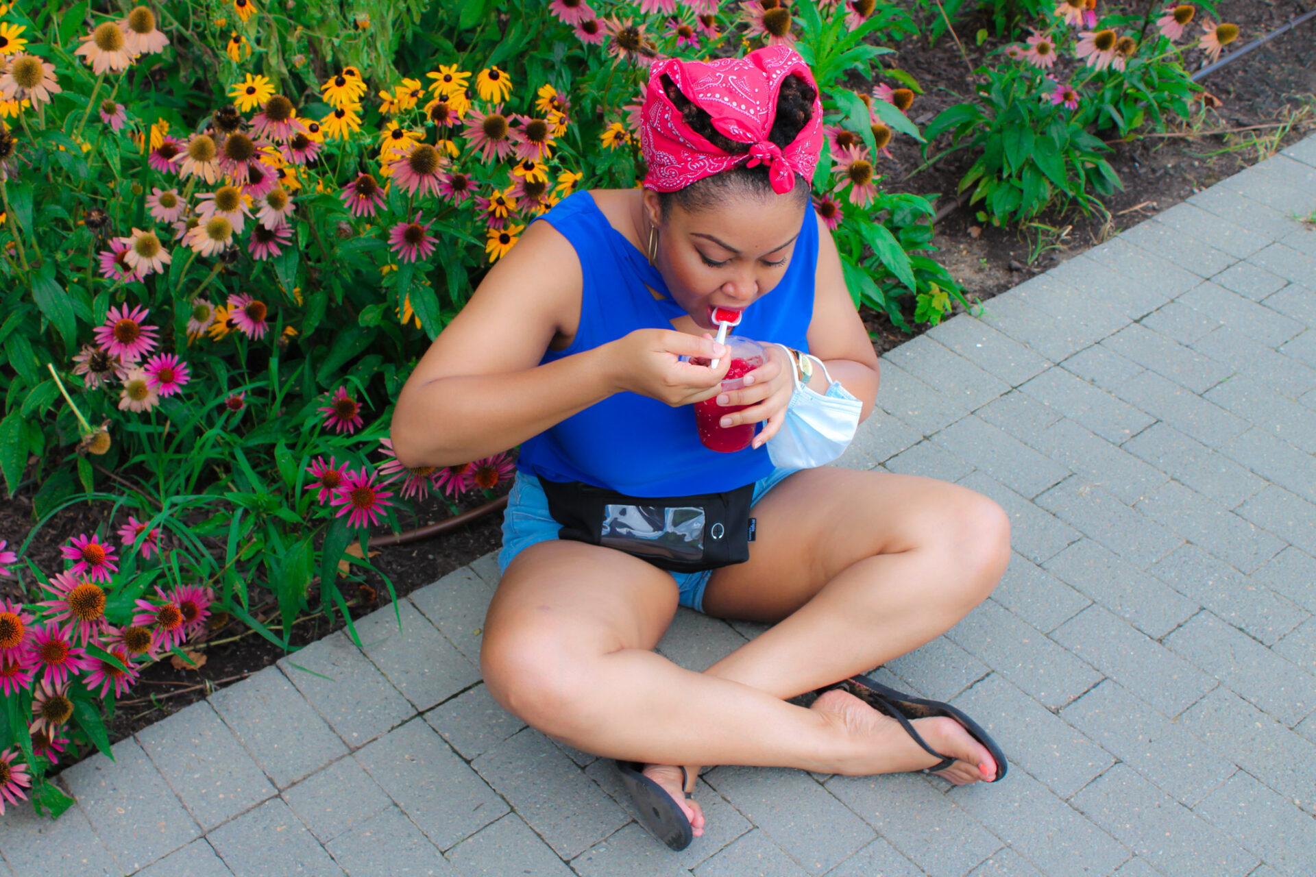 This Bahamian Gyal blogger, Rogan Smith cools down with an Italian ice in Georgetown.