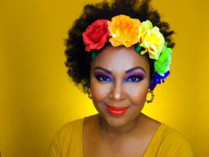 DC blogger, Rogan Smith of This Bahamian Gyal shows a bold makeup look that will turn heads