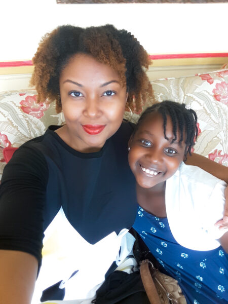 Photo of This Bahamian Gyal blogger, Rogan Smith as she poses with her niece, Tatyanna.