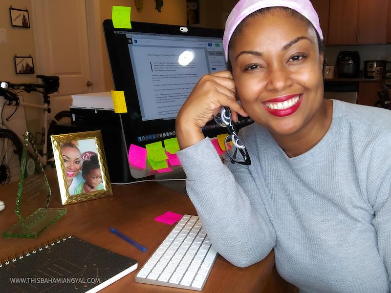Washington DC blogger, Rogan Smith sits at computer blogging