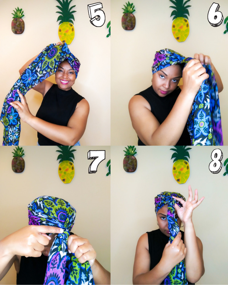 An easy step-by-step look at how to tie a headscarf.