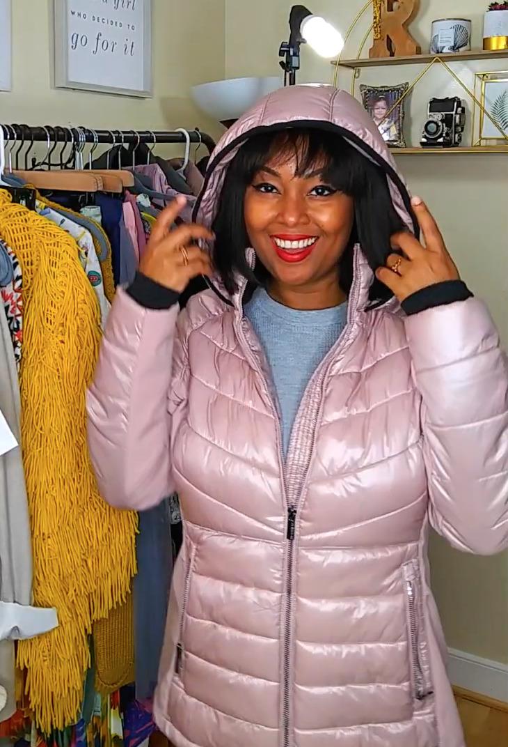 A lightweight pink Calvin Klein puffer jacket from Marshalls.
