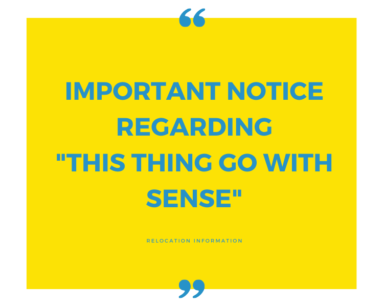 Important notice regarding This Thing Go With Sense column