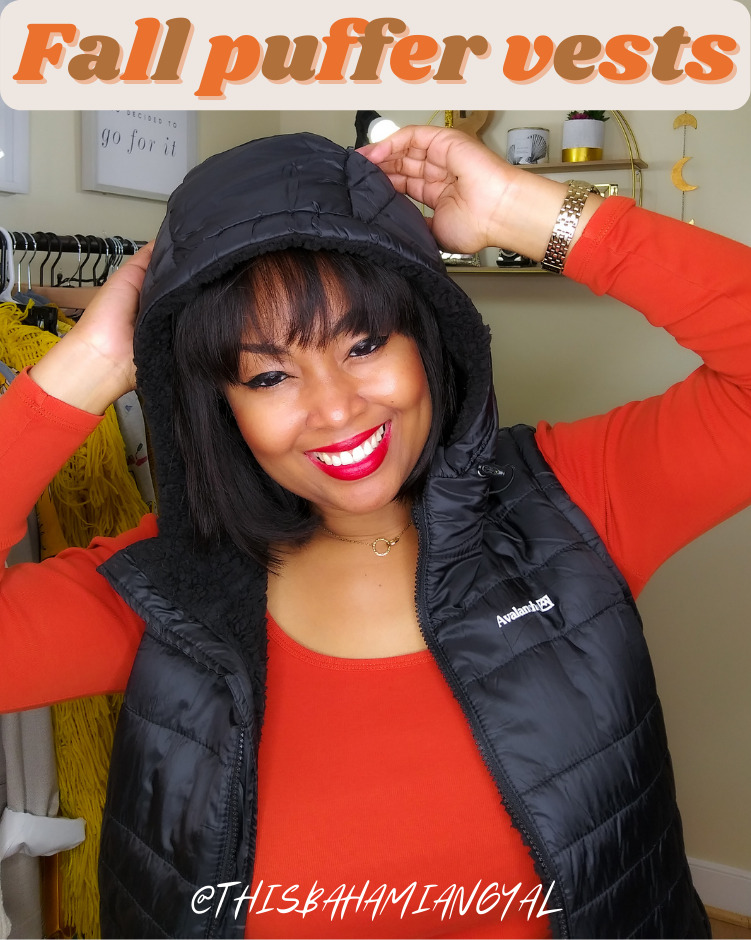 This Bahamian Gyal blogger Rogan Smith wears a black puffer vest for fall and winter