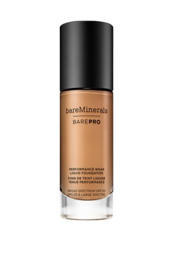 bareMinerals BAREPRO performance wear liquid foundation in Latte. I bought this foundation and it gave me flawless coverage.
