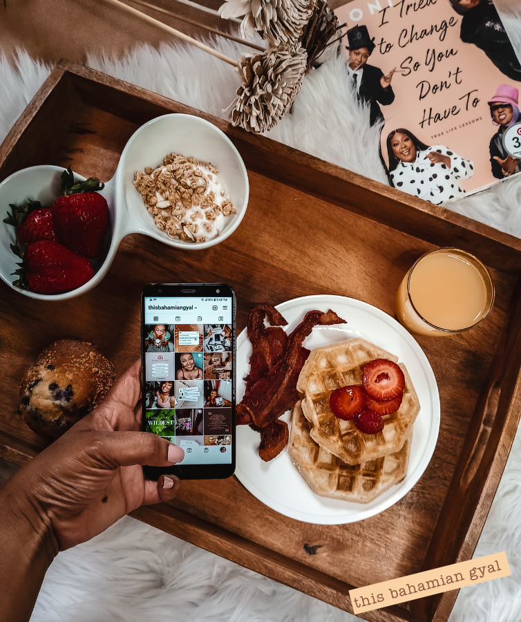 blog post picture of breakfast flat lay breakfast tray loni love i changed so you don't have to