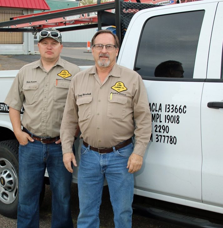 HVAC Group in front of truck