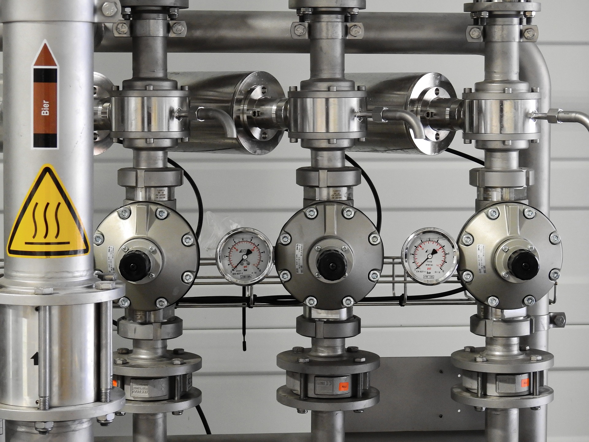 Commercial Plumbing pipes and gauges
