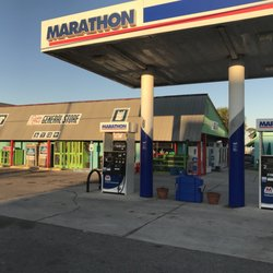 Marathon gas station and Scallop Cove Grocery store