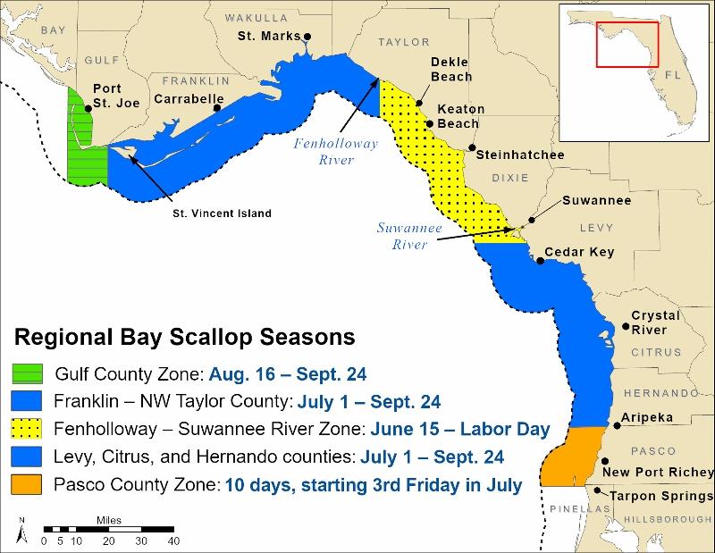 2021 scalloping season map