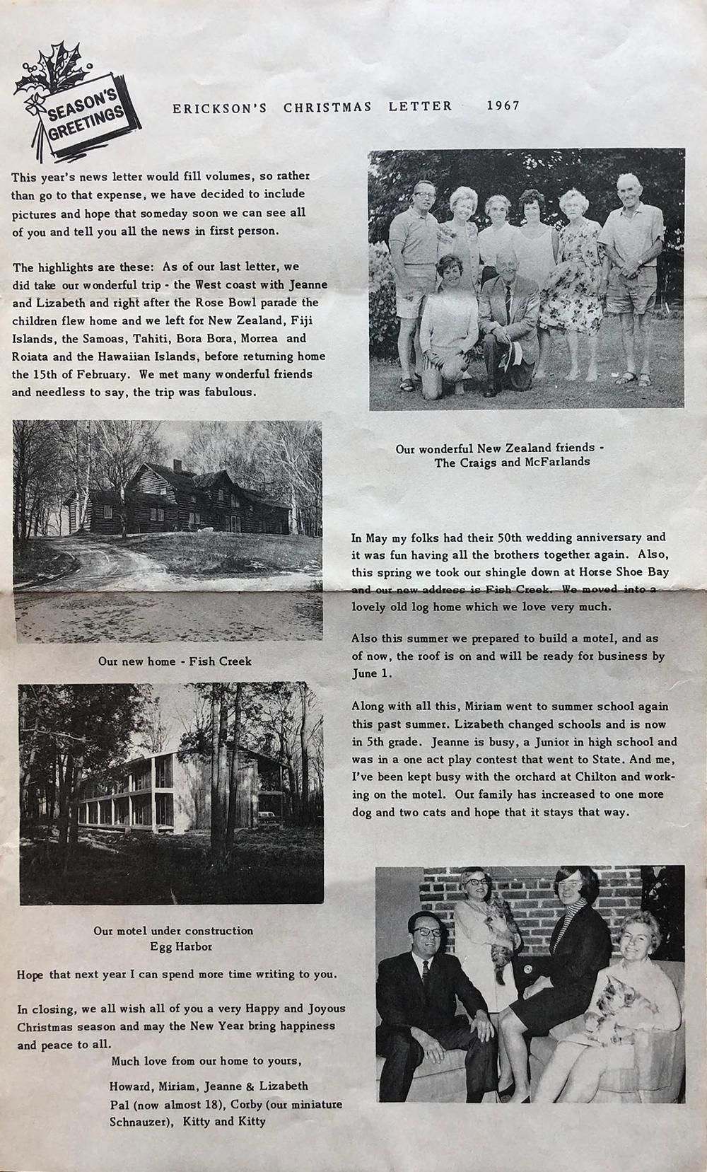 Vintage Newsletter describing Shallows Resort activities