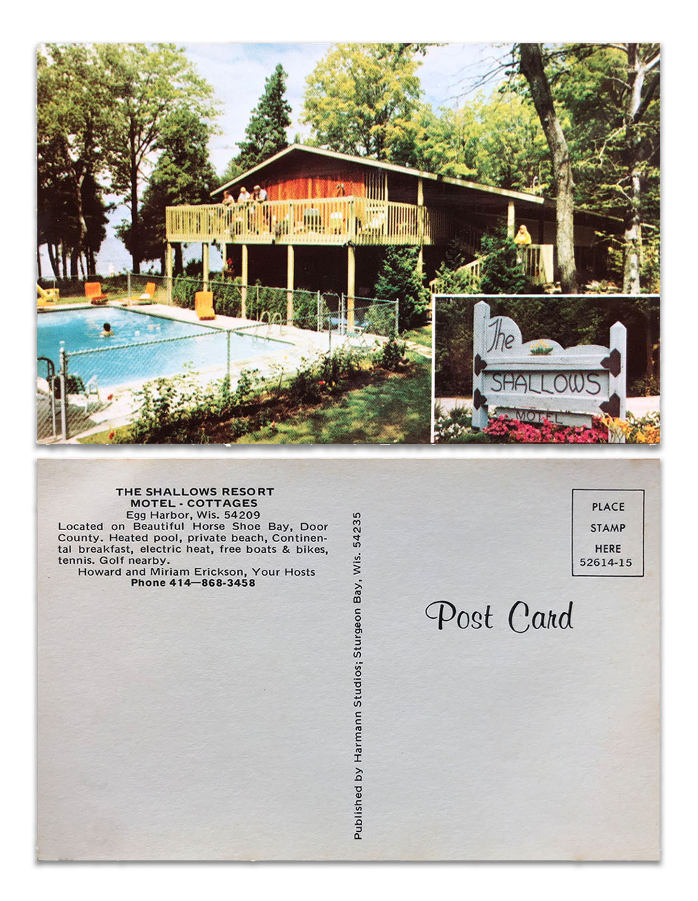 Vintage postcard of the Shallows Resort