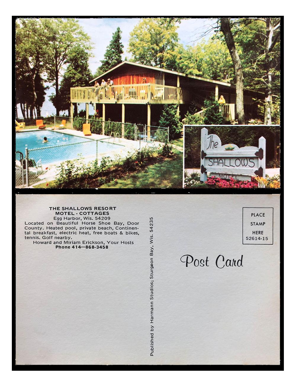 Vintage postcard of the Shallows Resort
