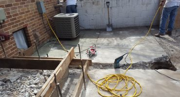 Deck Repair Service in Progress