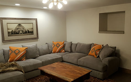 Completed Living Room after Work done by Handyman Golden CO