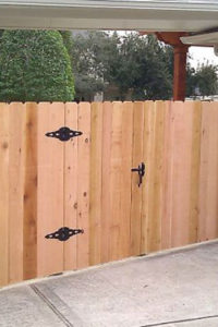 Fence Gate Built by Home Maintenance Company