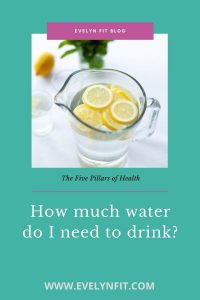 How much water do I need to drink?