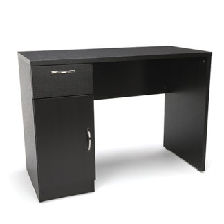BEM OFMESS-1015 Essentials Single Pedestal Solid Panel Office Desk with Drawer and Cabinet