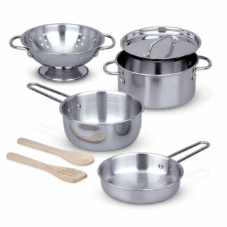 Let's Play House! Stainless Steel Pots & Pans Play Set - 4265