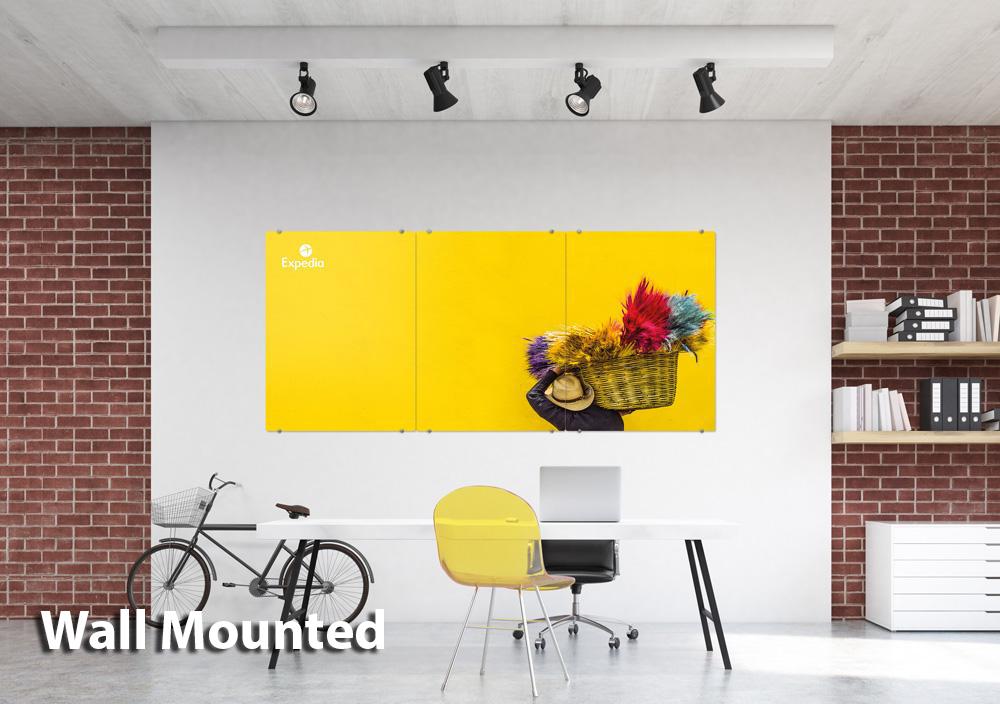 Glass Whiteboard Wall Mount Version